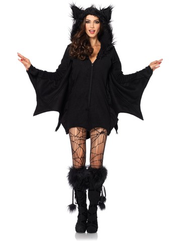 Women's Sexy Cozy Bat Costume