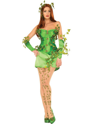 Womens Sexy Deluxe Poison Ivy Costume