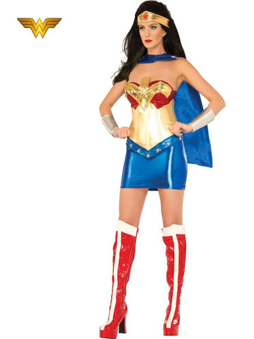 Womens Sexy Deluxe Wonder Woman Costume
