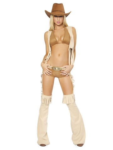 Womens Sexy Easy Rider Deluxe Cowgirl Costume