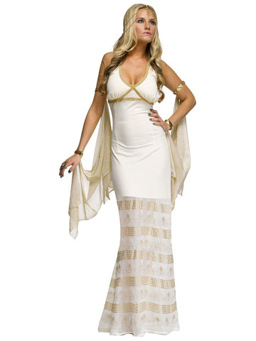 Womens Sexy Golden Goddess Costume