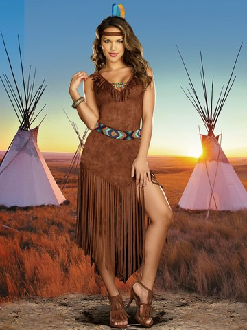 Women's Sexy Hot on the Trail Native American Indian Costume