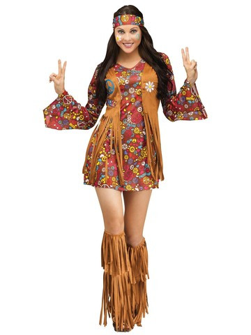 Women's Sexy Peace & Love Hippie Costume
