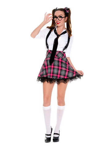 High Class Nerd Womens Sexy School Girl Costume