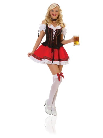 Womens Sexy Swiss Girl Beer Girl Costume