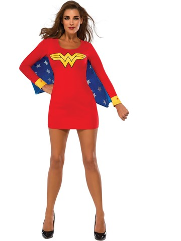 Womens Sexy Wonder Woman Cape Dress Cos