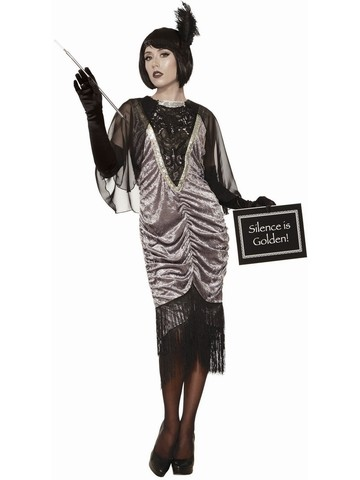 Silent Movie Flapper Costume for Women