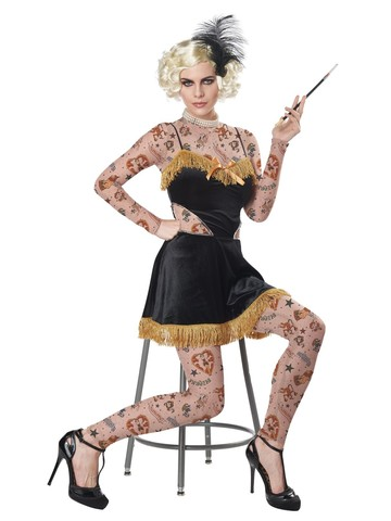 The Amazing Tattooed Lady Women's Costume