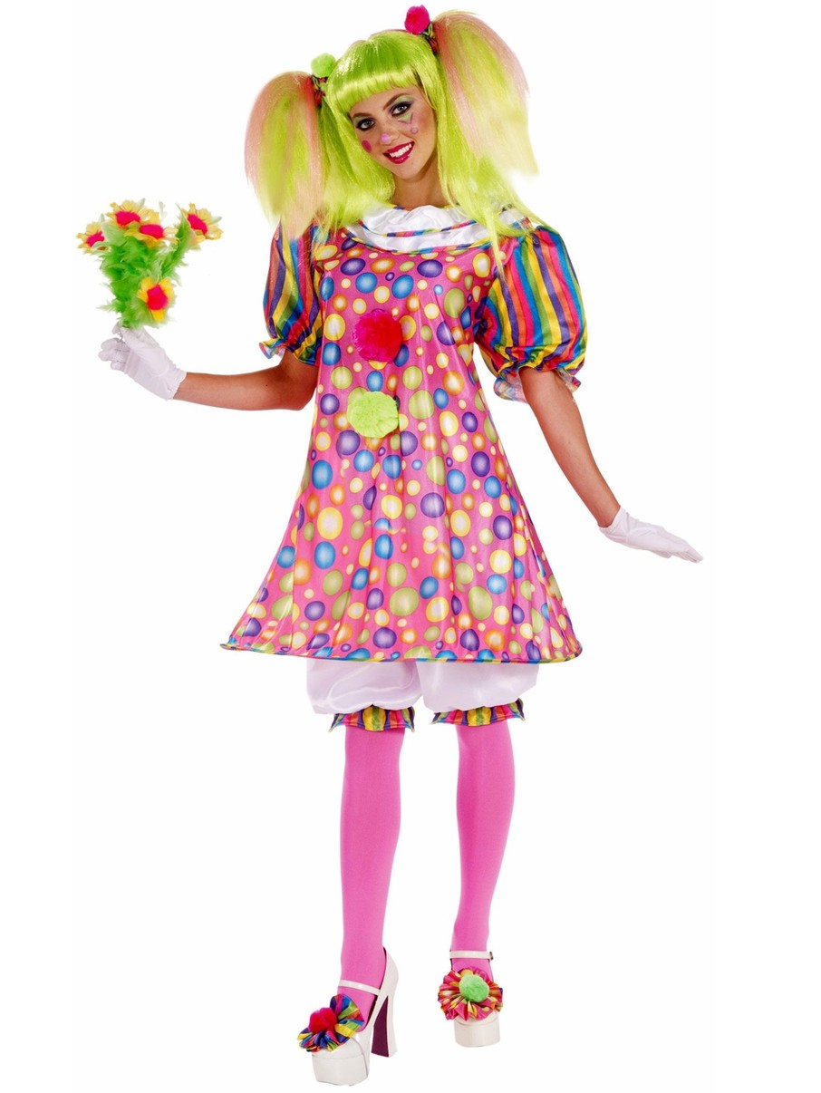 View larger image of Womens Tickles The Clown Adult Costume