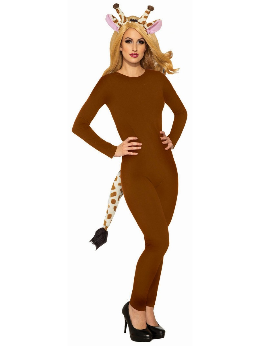 View larger image of Adult Unitard Women Brown Plus Costume