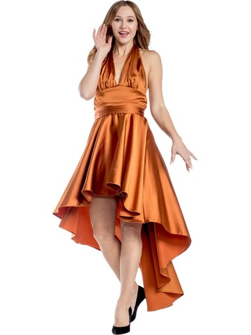 Women's Burnt Orange Disco Dress