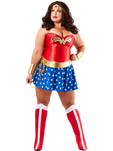 Wonder Woman Deluxe Plus Size Costume for Adults