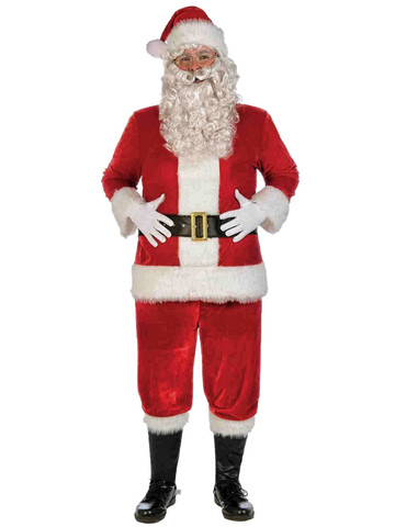 Red Velvet Deluxe Santa Suit Costume