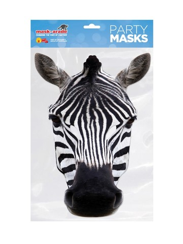 Zebra Facemask Costume Accessory