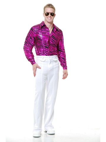 Men's Zebra Print Disco Shirt